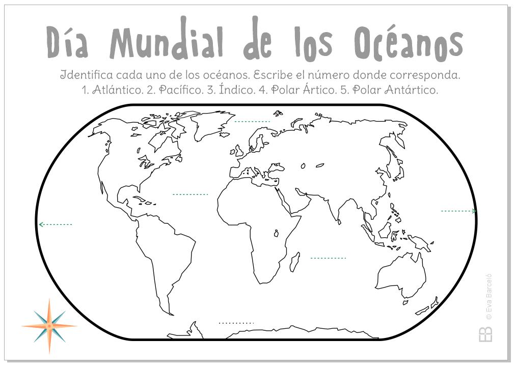 Día Mundial De Los Océanos Continentes Y Océanos Oceano Y