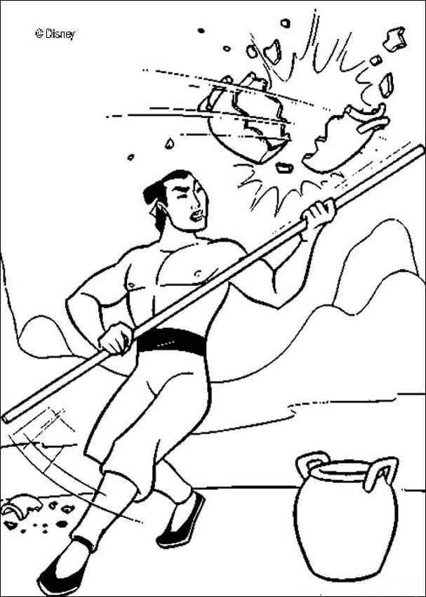 Mulan And Shang Together Coloring Pages Captain li shang | human ...