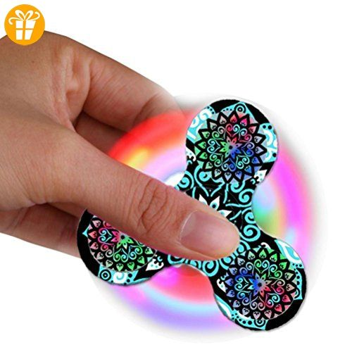 Omiky® LED Lichter Fidget Spinner Single Finger Dekompression Gyro Hand Spinner - Fidget spinner (*Partner-Link)