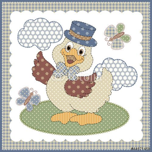 Vector: 33-Patinho patchwork | Applique chickens | Pinterest | Nähen