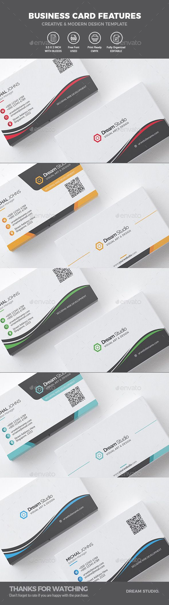 Business Card Bundle 2 IN 1 - Business Cards Print Templates ...