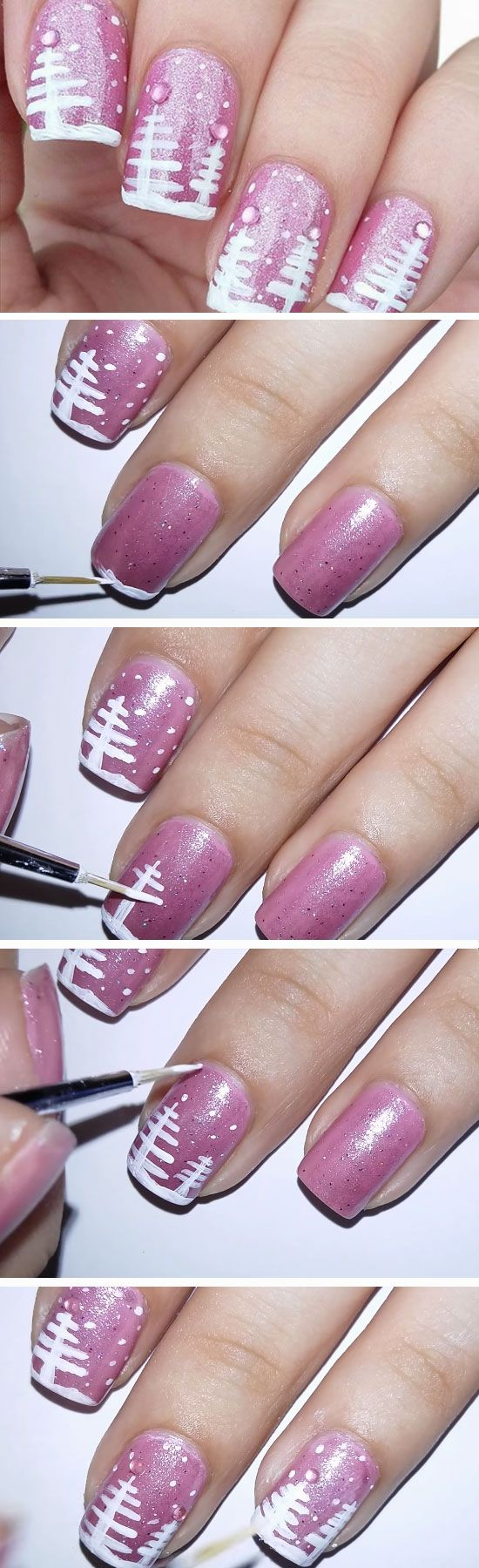 Pink Christmas | Easy Christmas Nail Designs for Short Nails | Nails ...