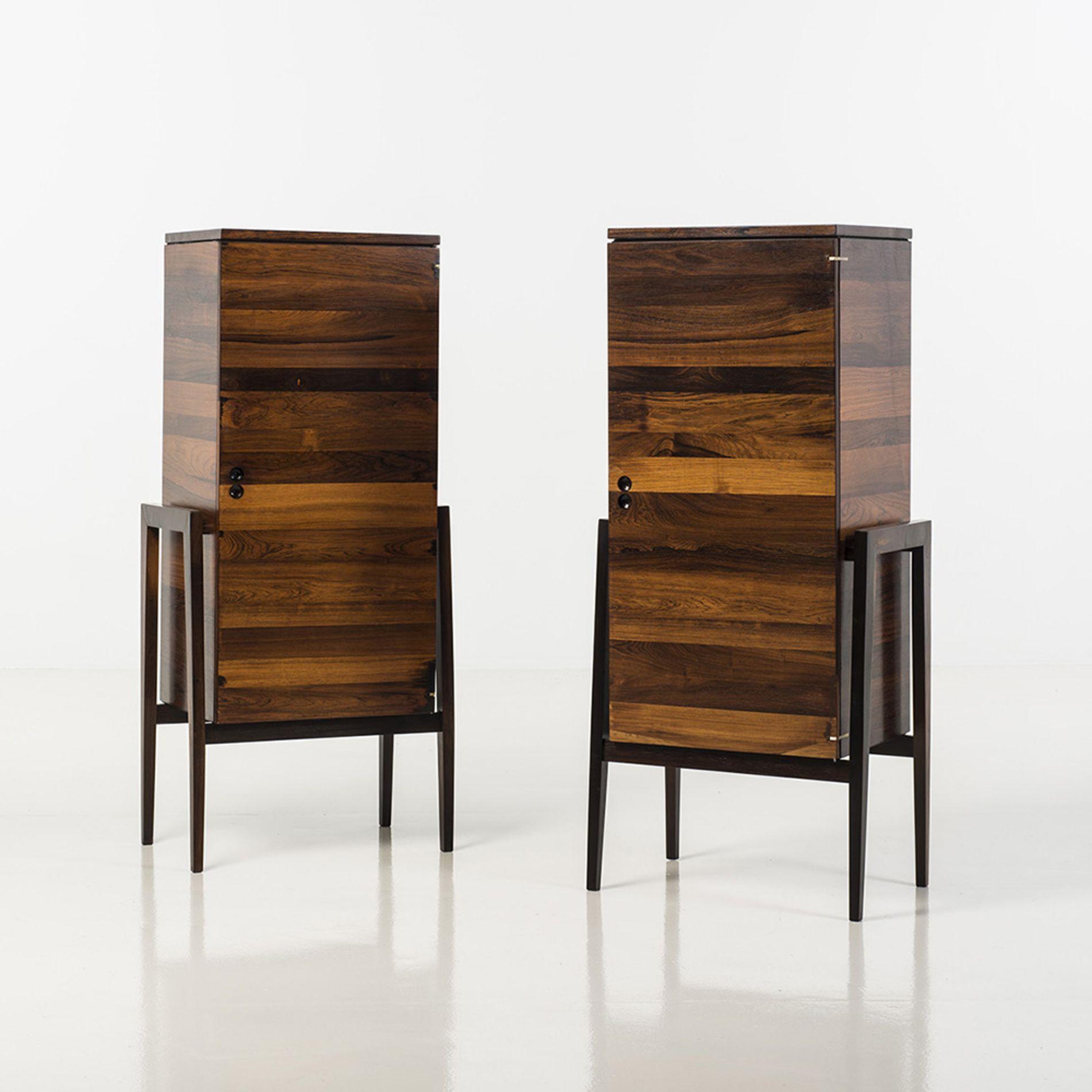 Jorge Zalszupin 1922 L Atelier Paire De Cabinets Palissandre  # Vaisselier D'Angle Moderne En Palissandre