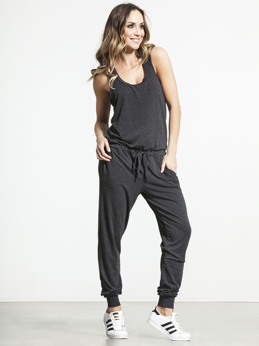 c0865f7df17 Racerback Jumpsuit by SPIRITUAL GANGSTER - DRESSES AND JUMPSUITS   JUMPSUITS