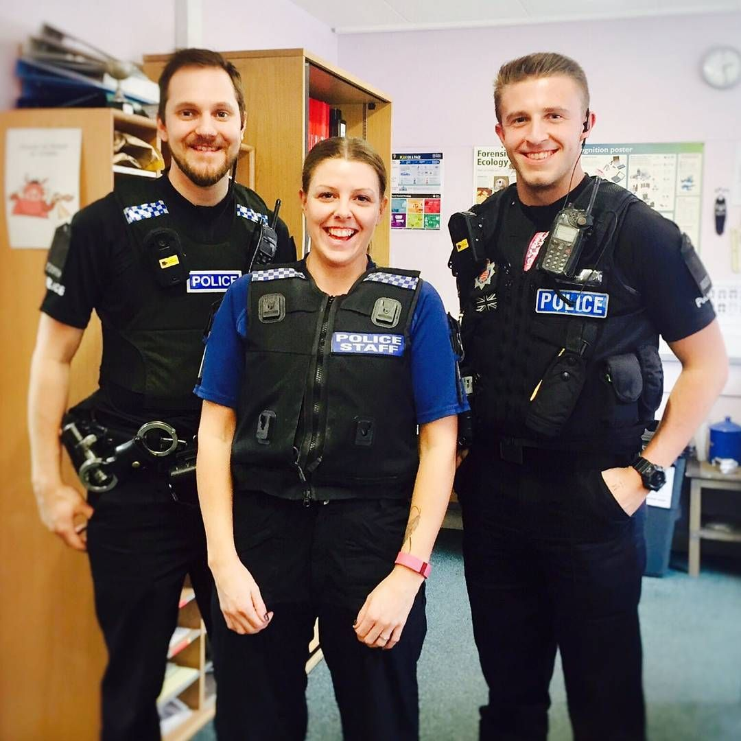 Pc James Brewer and Pc Daryl Jones popped over to see CSI