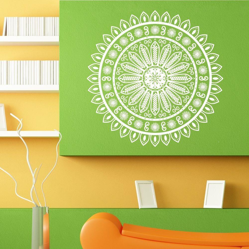 Wall Room Decor Art Vinyl Sticker Mural Decal Mandala Yoga Flower Ganesh L111 3M