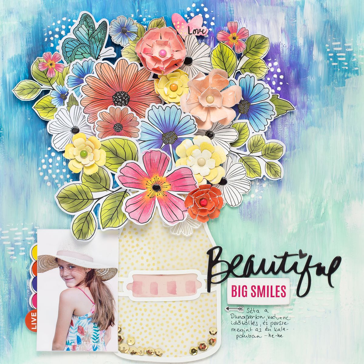 This Scrapbook Layout Is The Definition Of Mixed Media Goals