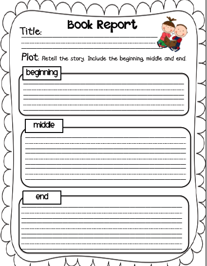 Book Report Clipart Frames by that girl clip art early
