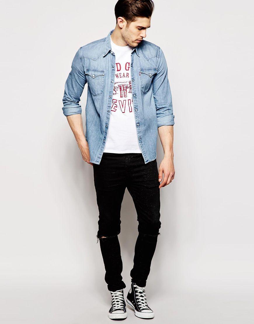 Image 4 Levi S Barstow Chemise Slim Style Western En Jean