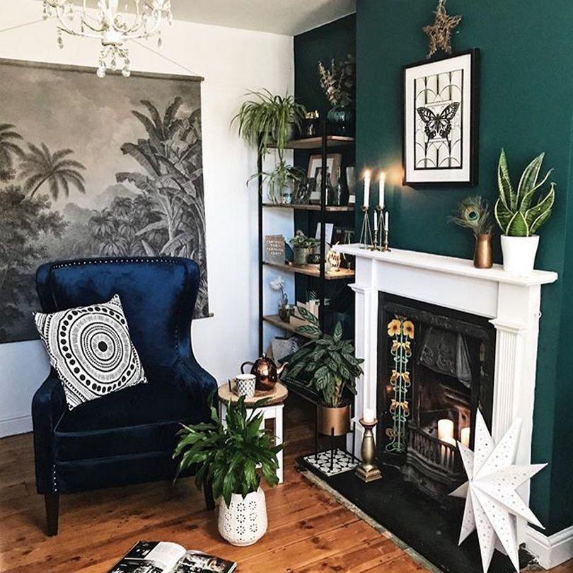 98 Beautiful Dark Green Living Room Wall Design Ideas 20 Darkgreenkitchen 98 Bea In 2020 Green Walls Living Room Living Room Wall Designs Dark Green Living Room