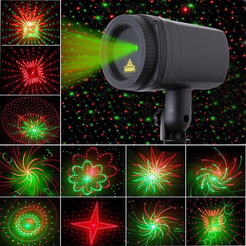 Efeito De Estrela Luzes De Natal Projetor Laser 24 Padroes Chuveiros Rf Remoto De Movimento A Prova Laser Christmas Lights Laser Lights Projector Laser Lights