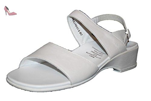 Ganter Florence, Weite F, Sandales Bout Ouvert Femme - Blanc - Wei? (Wei? 0200), 40