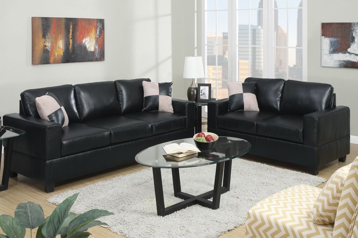 Awesome leather sofa set black unique leather sofa set black on
