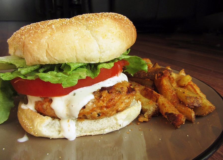 Buffalo chicken burgers in the photo they are served with oven buffalo chicken burgers in the photo they are served with oven baked parmesan paprika fries forumfinder Image collections
