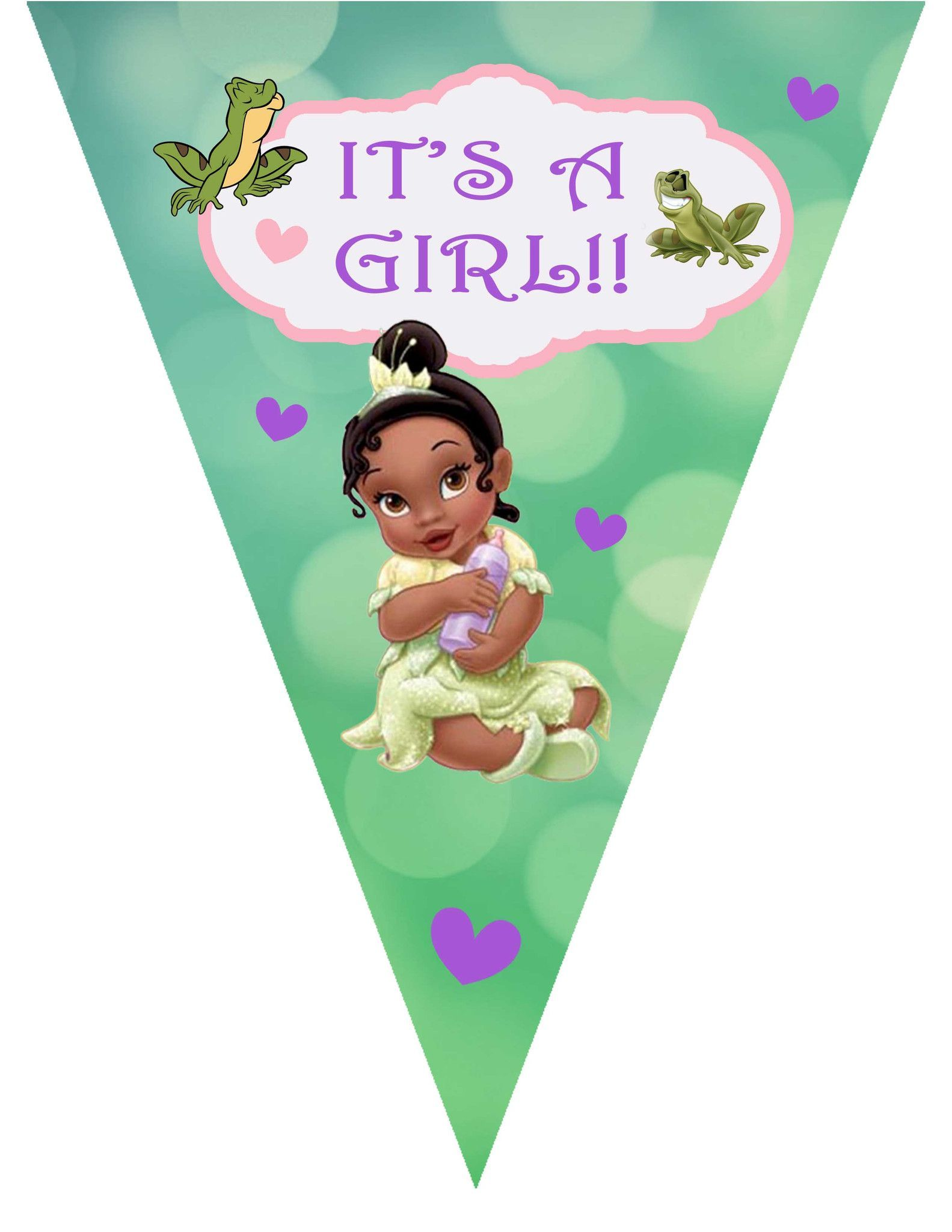 Princess Tiana Baby Shower Banner Always And Forever Begins Today