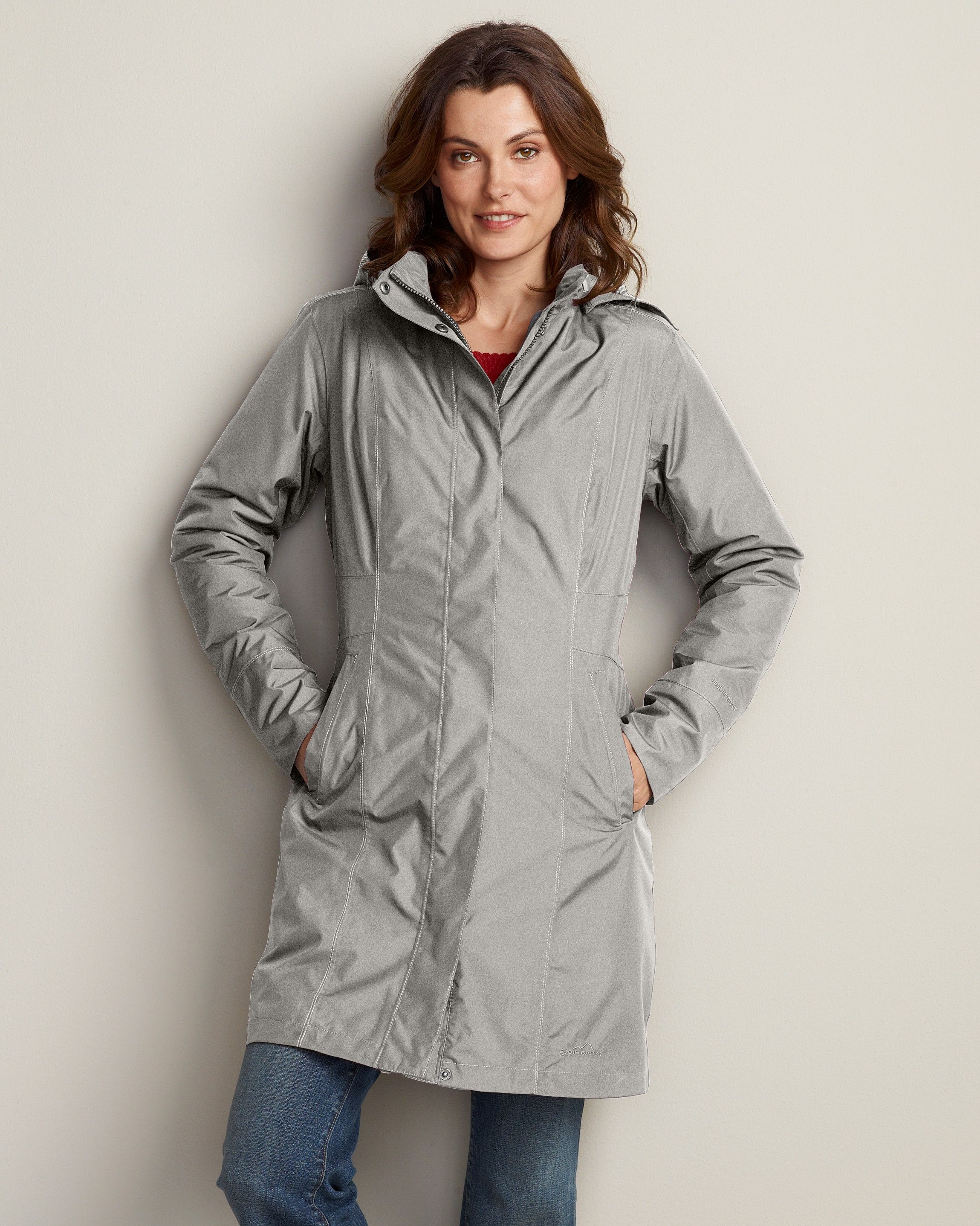 Eddie Bauer Womens Girl On The Go Insulated Trench Coat