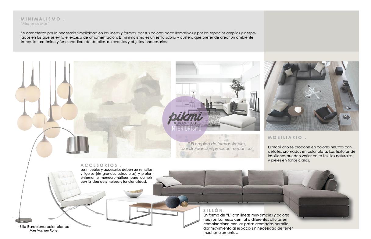 Pikmi Interiorismo Propuesta Sala Casa B Minimalista Pikmi  # Los Muebles Powerpoint