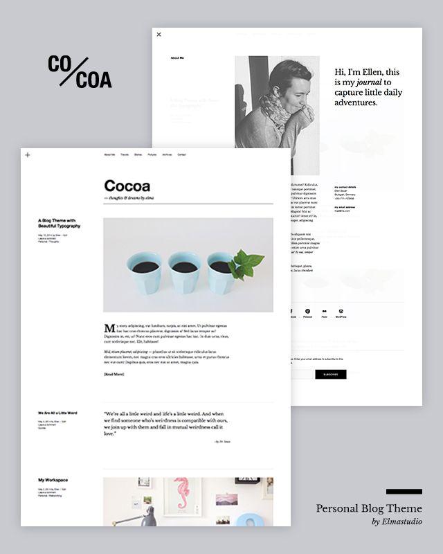 Cocoa WordPress Blog Theme | SHARESTOCK.ORG | Pinterest | Wordpress ...