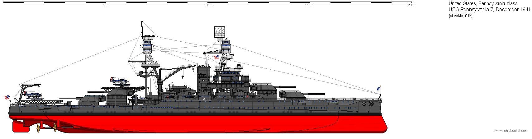 Military USS PENNSYLVANIA BB-38 Ship Polo Shirt