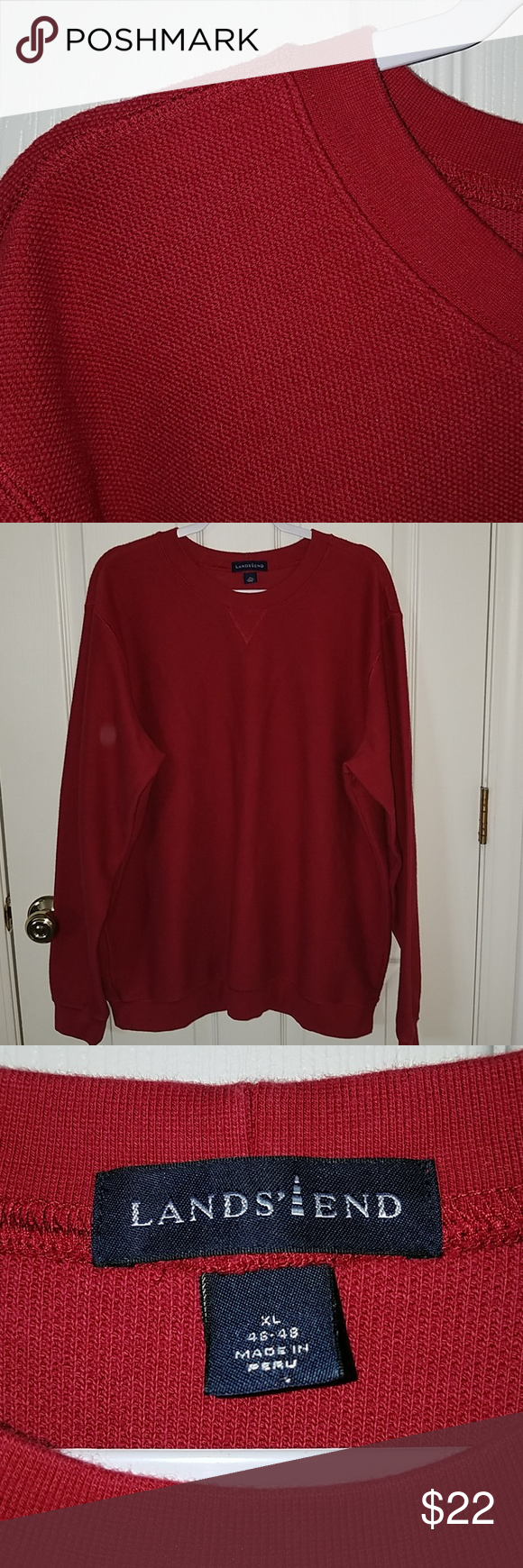 Lands End Mens Shirt Nice Heavyweight Lands End Mens Long Sleeve Shirt Warm And Cozy Preowned Exc Long Sleeve Shirt Men Long Sleeve Shirts Clothes Design [ 1740 x 580 Pixel ]