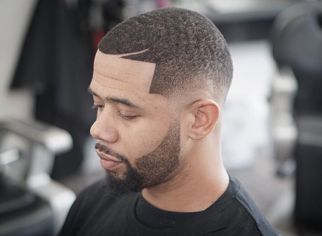 short faded beard style black