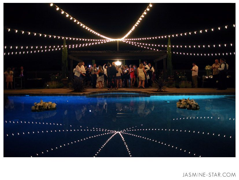 Elegant Backyard Wedding : Michelle + Will Lights - Shape ...
