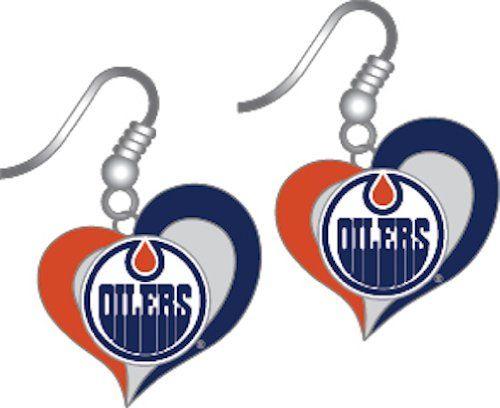 Edmonton Oilers Christmas Ornament Edmonton Oilers Oilers Silver Earrings