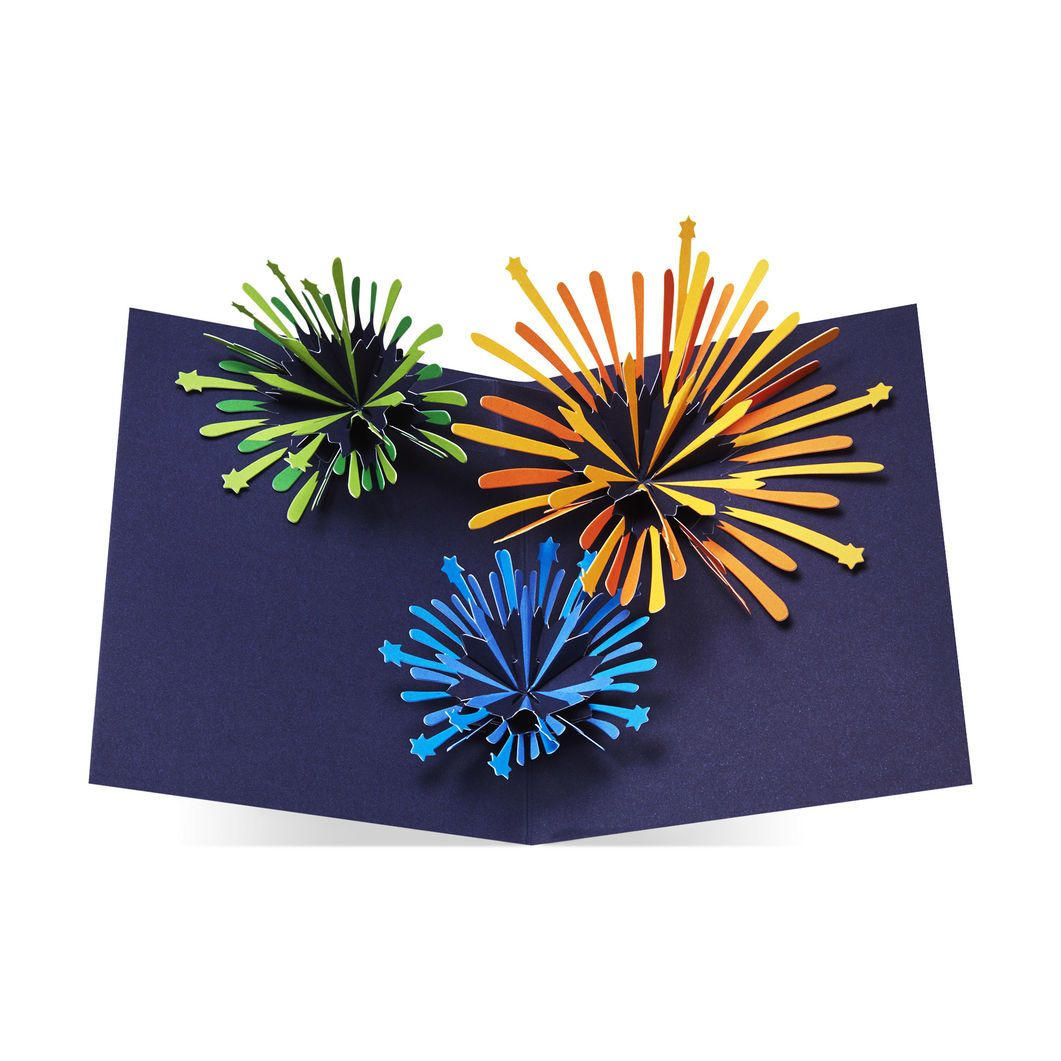Sparkling fireworks holiday cards holiday cards pinterest blue sparkling fireworks holiday cards moma design store m4hsunfo
