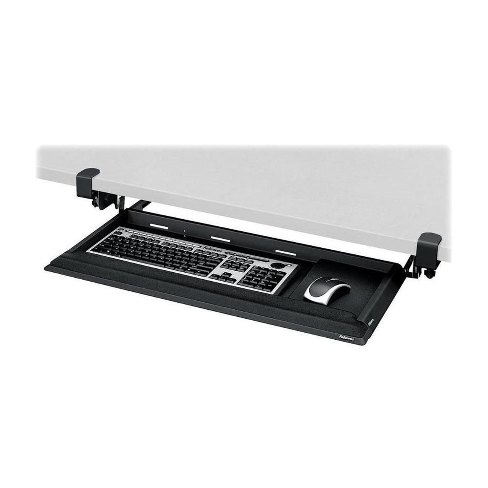 Fellowes Designer Suites Desk Ready Keyboard Drawer (CRC80383)~BLACK~APPLE IPOD #FELLOWES