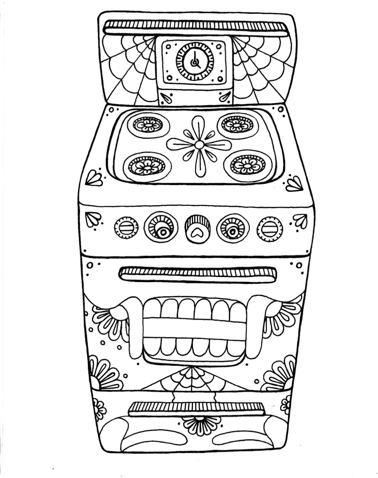 Wenchkin S Coloring Pages Day Of The Oven Coloring Pages Skull Coloring Pages Cool Coloring Pages
