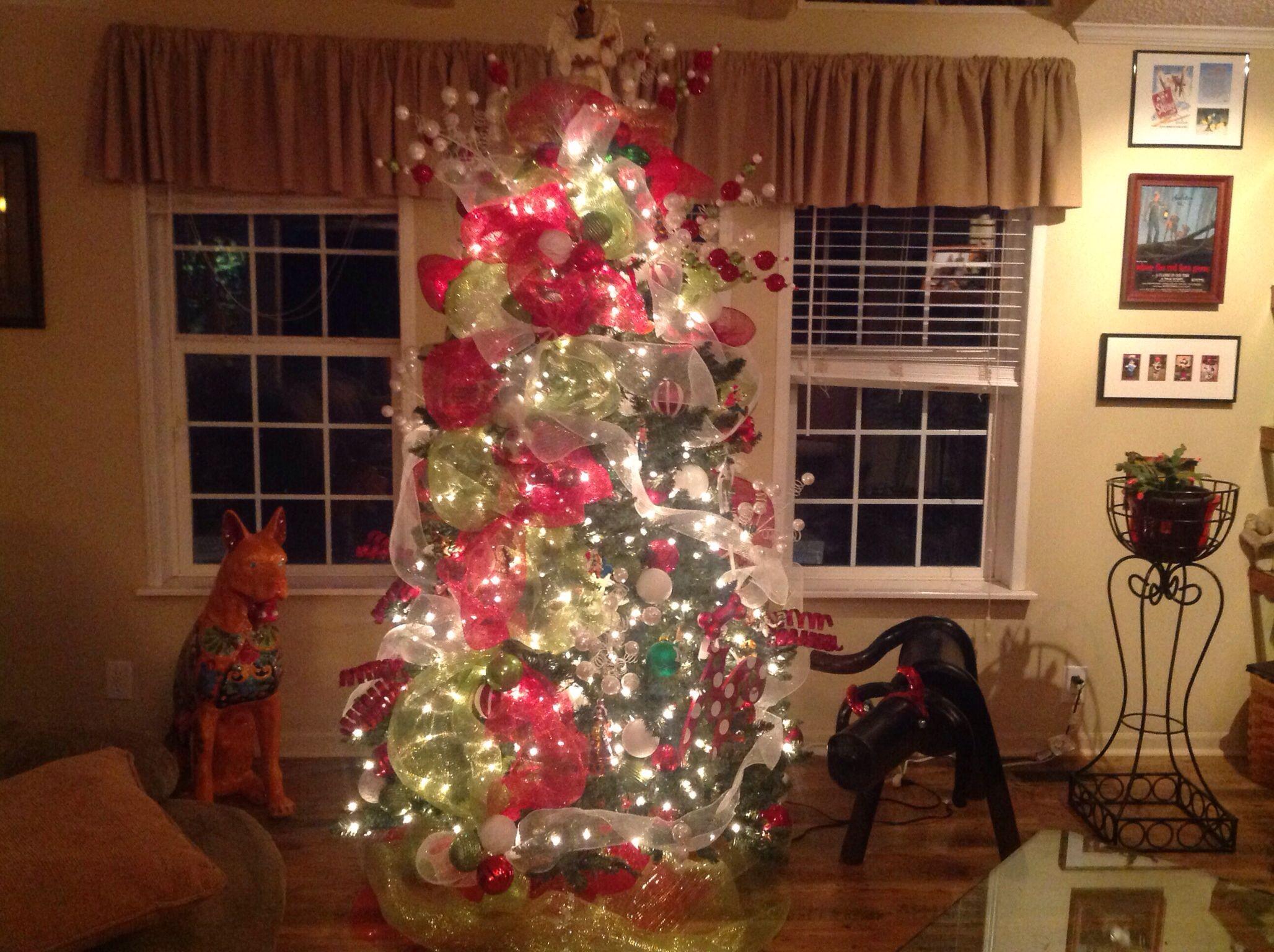 Christmas tree using geo mesh holiday decor christmas