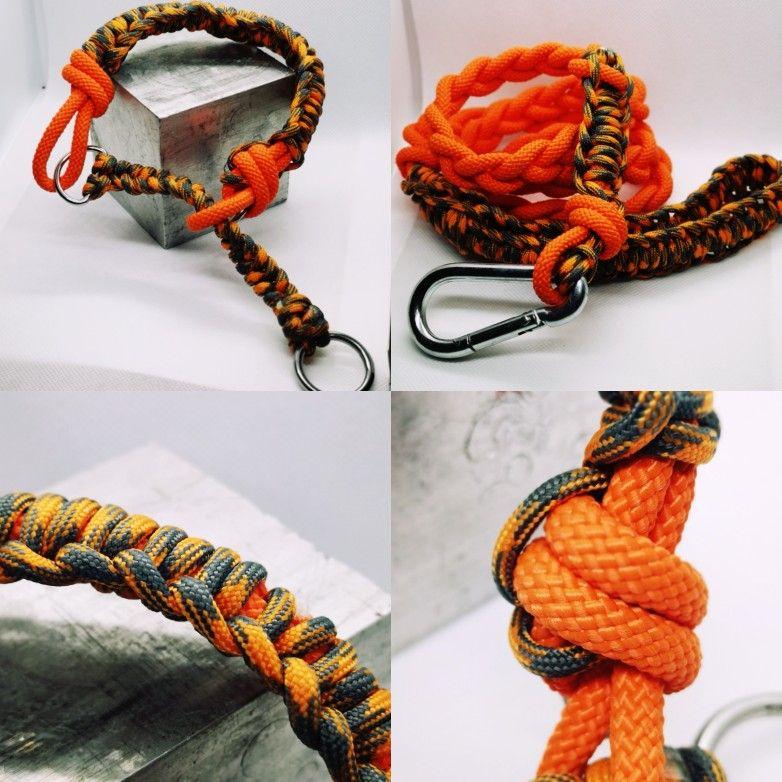 Dog Collar And Lead Set, Handmade,orange. parador/climbing