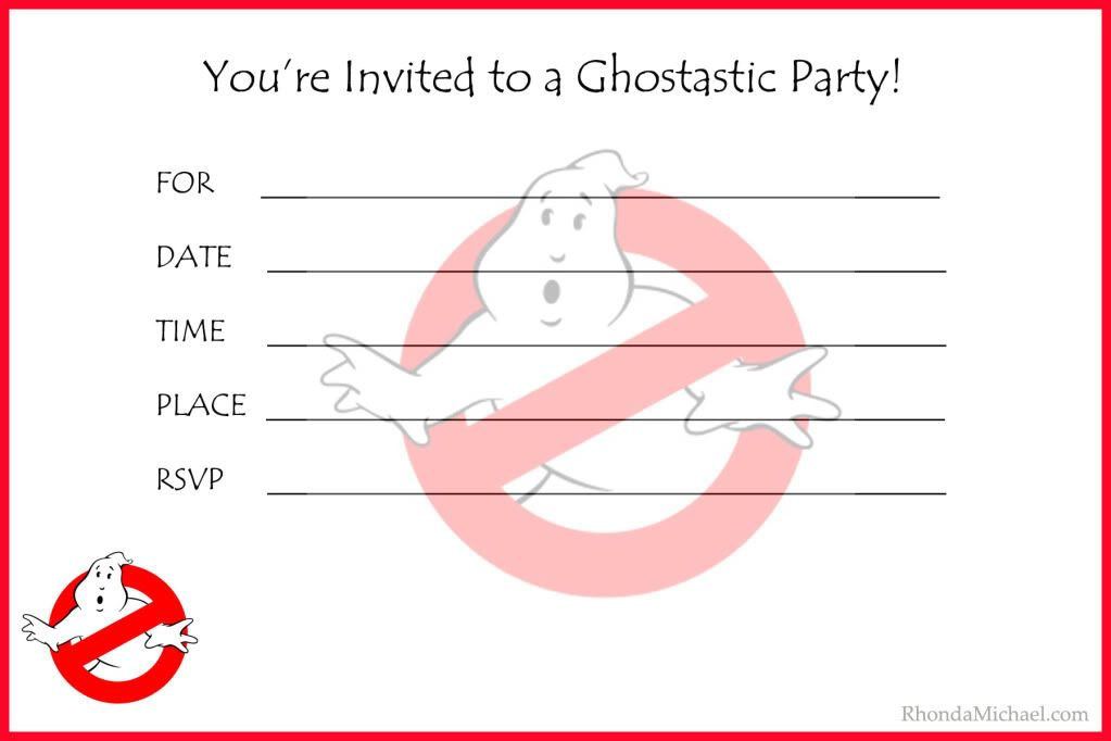 I created a Ghostbusters party invitation for my sons birthday