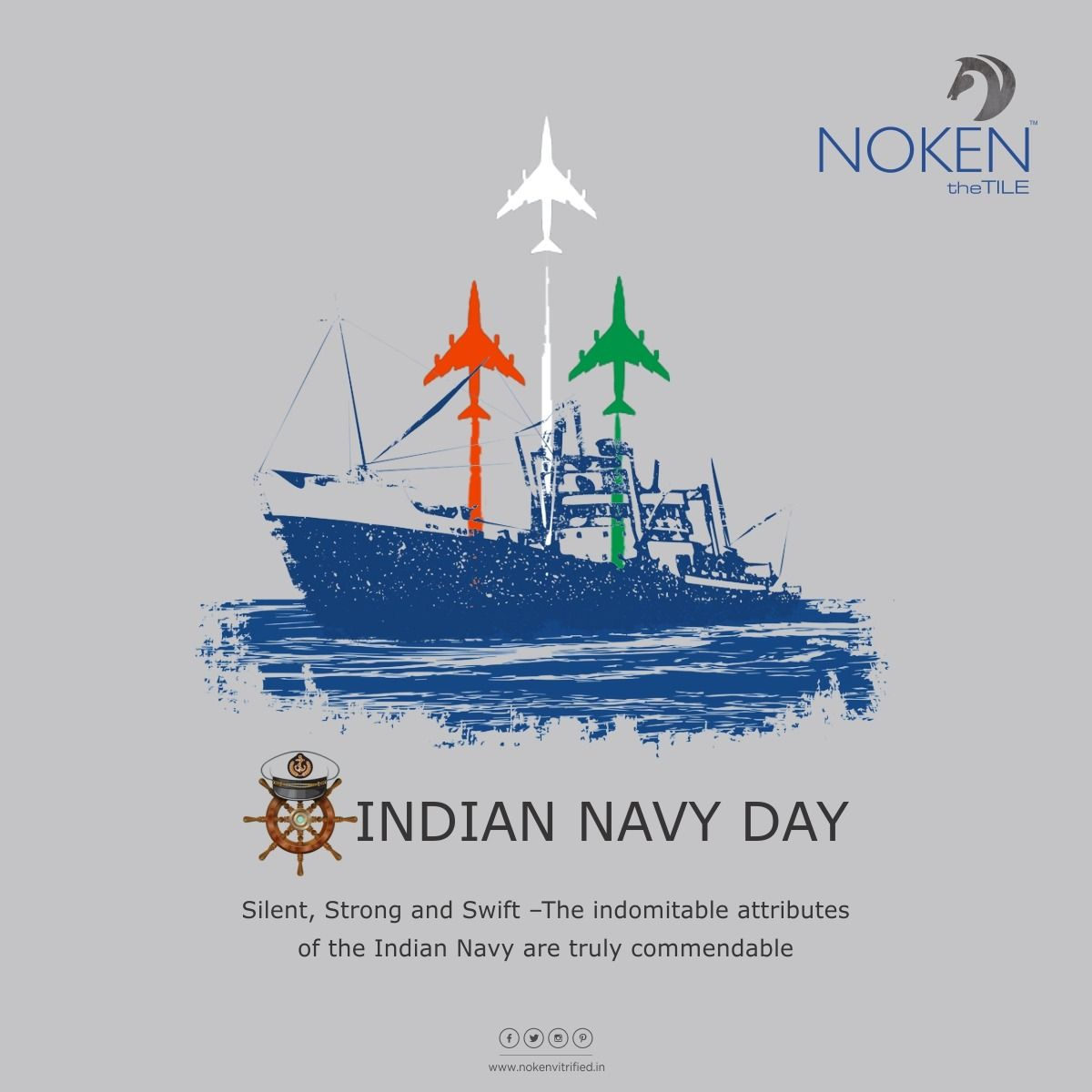 Silent Strong And Swift The Indomitable Attributes Of The Indian Navy Are Truly Commendable Indian Navy Day Noken T In 2020 Indian Navy Day Navy Day Indian Navy