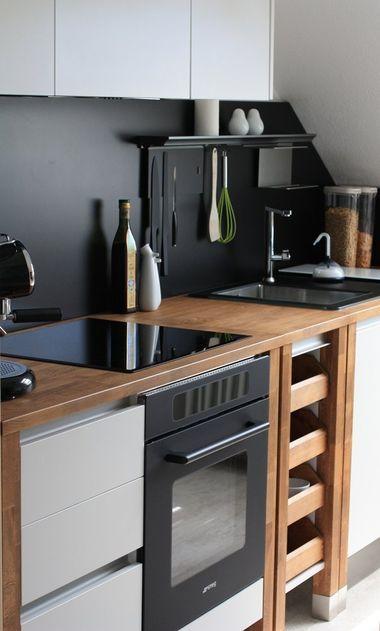 bloc kitchen tabac - painted white Small kitchens Pinterest