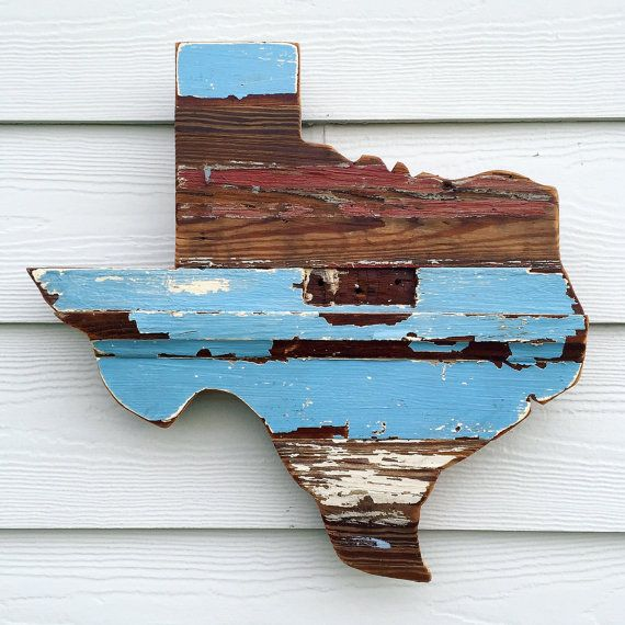 Reclaimed Wood Texas Sign Rustic State Outline by ATXFrontporch - Reclaimed Wood Texas Sign, Rustic State Outline, Rustic Texan
