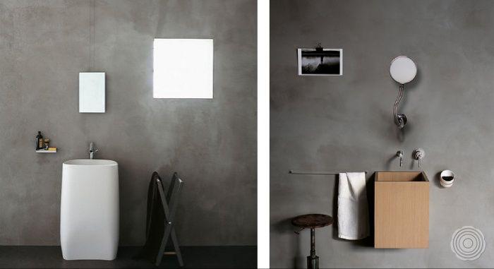 Luxurios Der Robuste Charakter Bildet Einen Wunderbarer Kont Badkamer Wanden Wanden Badkamer