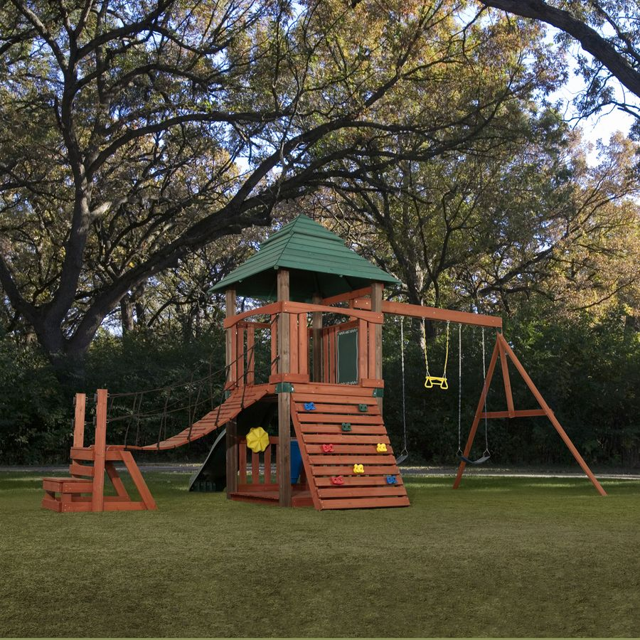 shop swing n slide sherwood tower residential wood playset