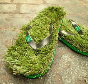 c90851f20c6 Green Grass Flip Flops (Men Large) cover