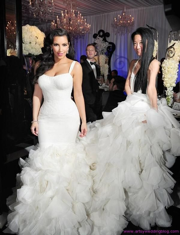 Top Celebrity Wedding Dresses | Wedding dress, Famous wedding ...