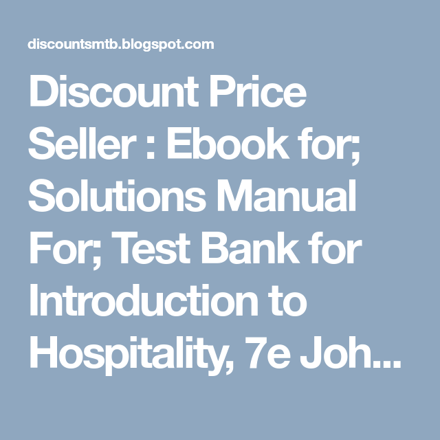 Discount price seller ebook for solutions manual for test bank discount price seller ebook for solutions manual for test bank for introduction to fandeluxe Gallery