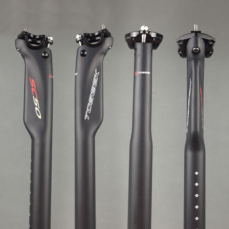 3K Carbon Fiber Mountain Bike Seatpost MTB Road Bicycle Seat post 27.2//30.8//31.6
