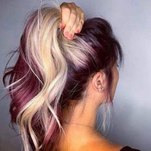 Burgunder Haar Ideen für blonde, rote und brünette Haare
