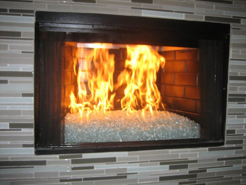 Fireplace Elegant Convert Gas Fireplace Glass Rocks From Elegant