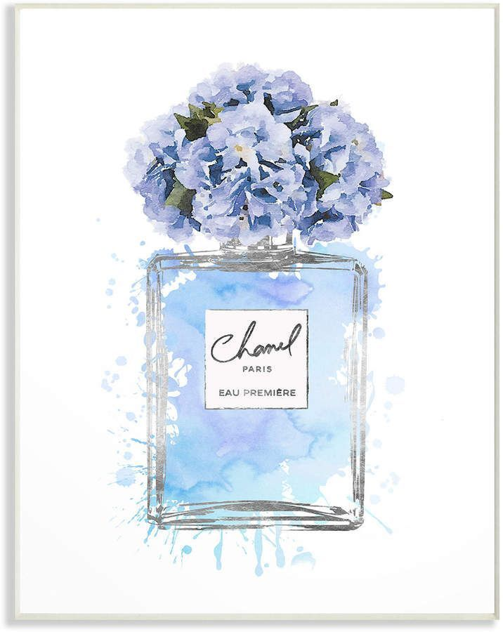 Photo of Stupell Blue Flowers Perfume Bottle Watercolor By Amanda Greenwood #Amanda #Blue… – Homemade Tattoo 2020