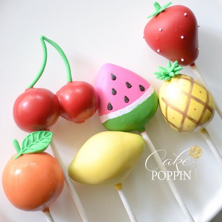 Fruit Cake Pops Tutti Frutti Cake Pops With Images Cake Pop