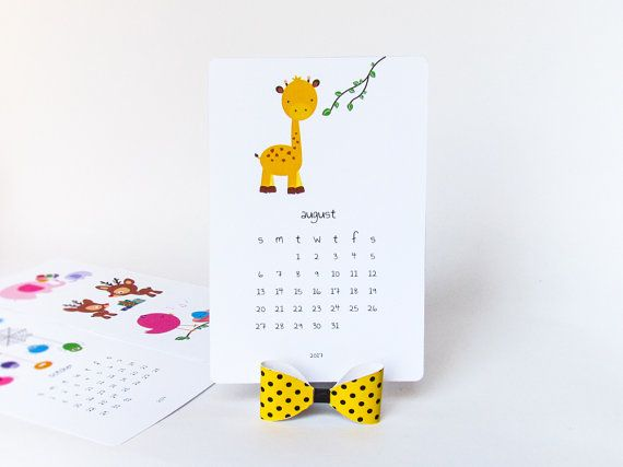 Printable 2017 Calendar Featuring Cute Animal Illustrations For Each Month  Of The Year! Print Out The Templates, Cut, Fold And Paste To Make Your Own  Little ...