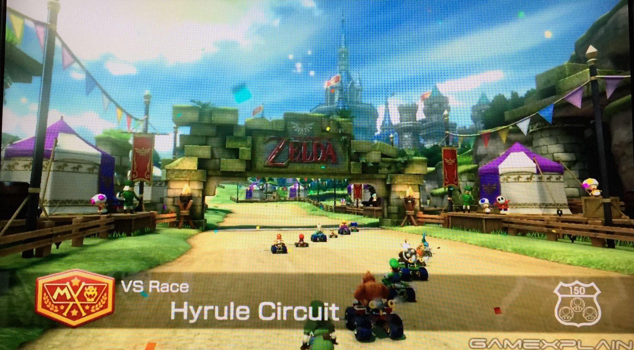 Mario Kart 8 DLC Pack 1 Triforce Cup Hyrule Circuit