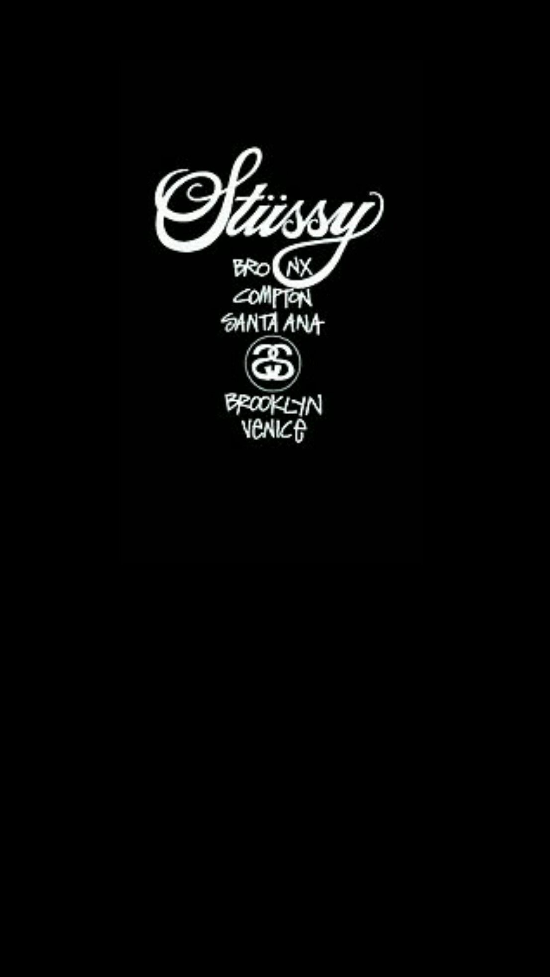 Stussy Black Wallpaper Android Iphone Achtergronden