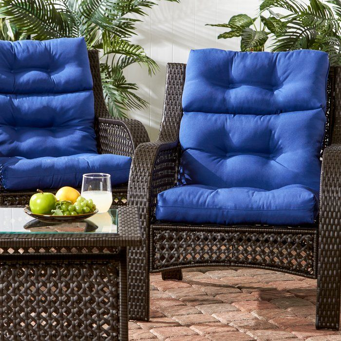 Sarver Indoor/Outdoor Seat/Back Cushion Chair cushions